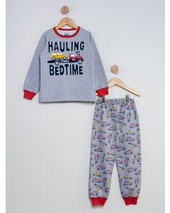 Pijama Infantil Carros - Cinza