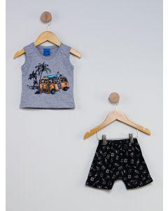 Conjunto Infantil - Cinza