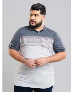 Polo Masculina Plus Size Gangster - Azul