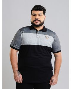 Polo Masculina Plus Size Gangster - Cinza