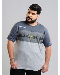Camiseta Masculina Plus Size Gangster - Cinza