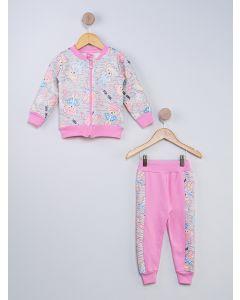 Conjunto Infantil Metelassê Estampado - Rosa