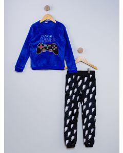 Pijama Infantil Gamer - Azul