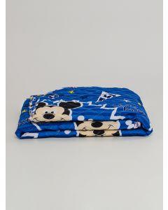 Colcha Solteiro Dupla Face Mickey Andreza - Azul