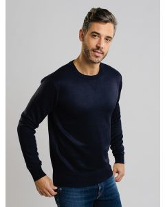 Suéter Masculino Tricot Básico - Azul