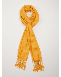 Lenço Feminino com Franjas - Amarelo