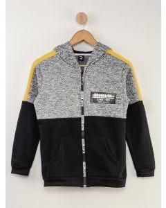 Jaqueta de Moletom Juvenil Brooklyn - Cinza