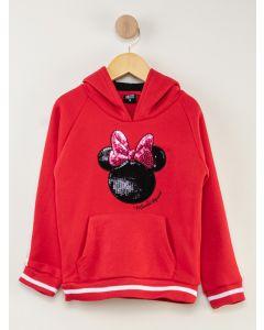 Blusa de Moletom Infantil Minnie - Vermelho
