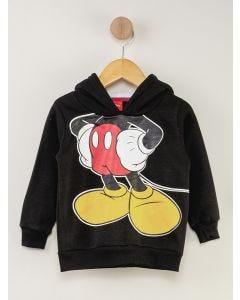 Blusa de Moletom Infantil Mickey - Preto