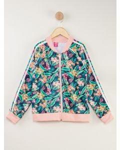 Jaqueta Infantil Estampa Tropical - Rosa