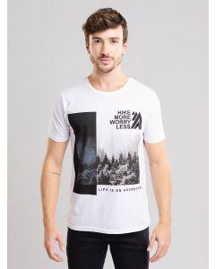 Camiseta Masculina Estampada - Branco