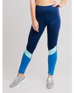 Calça Feminina Legging Recortes - Azul
