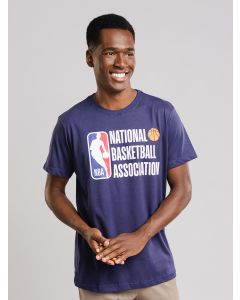 Camiseta Masculina Estampada NBA - Azul