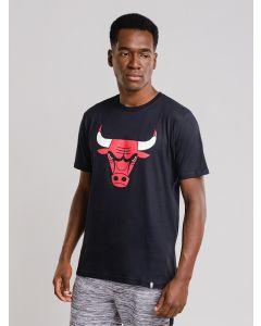 Camiseta Masculina Chicago Bulls NBA - Preto