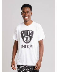 Camiseta Masculina Brooklyn Nets NBA - Branco