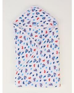 Toalha de Banho Infantil Estampada - Azul