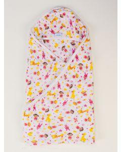 Toalha de Banho Infantil Estampada - Amarelo
