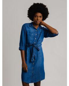 Vestido Chemise Jeans - Azul