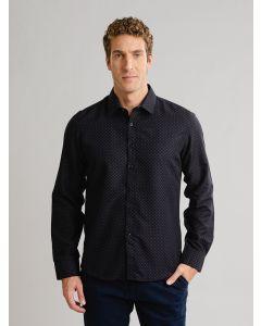 Camisa Estampada Masculina - Preto