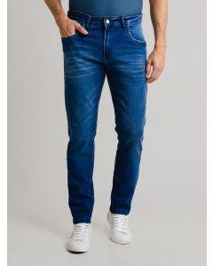 Calça Masculina Jeans com Elastano - Azul