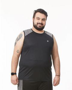 Regata Masculina Plus Size Esporte Recortes Ironwear