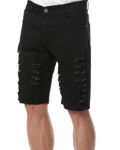 Bermuda Masculina Jeans Aizone - Preto