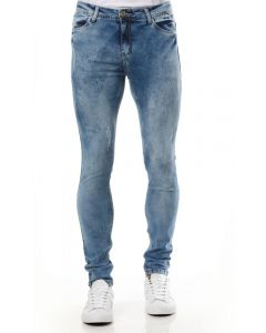 Calça Jeans Masculina Slim Puídos Zoato - Azul