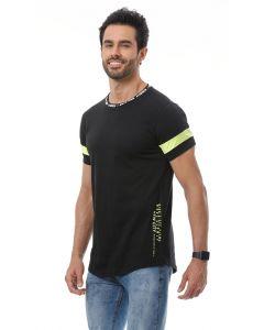 Camiseta Masculina Detalhe Neon Starfield