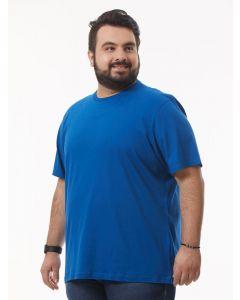 Camiseta Masculina Plus Size Básica Starfield - Azul-G2