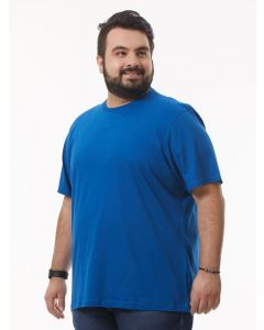 Camiseta Masculina Plus Size Básica Starfield - Azul