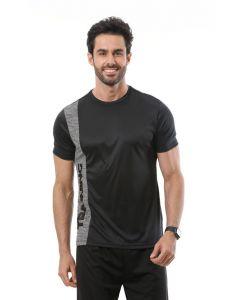 Camiseta Masculina Esporte Ironwear Recorte Estampado - Preto