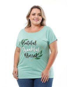 Blusa Feminina Plus Size Visual Urbano Grateful - Verde