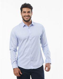 Camisa Masculina Slim Fit Z Zero - Azul