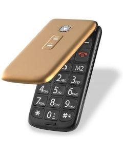 Celular Multilaser Flip Vita Dual Chip MP3 - Dourado