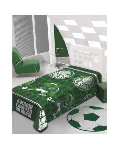 Manta Solteiro Soft Palmeiras Jolitex - Verde
