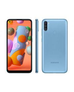 "Smartphone Samsung Galaxy A11 64GB Tela 6.4"" HD+  Octa Core 1.8 Câmera Tripla - Azul"