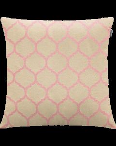 Capa para Almofada 45x45 cm Jacquard Geométrico Adomes - Rosa