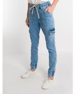 Calça Feminina Jeans Jogger - Azul