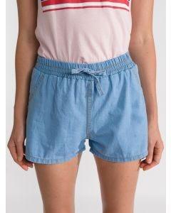 Short Feminino Jeans Elástico - Azul Claro