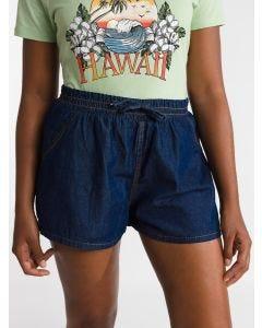 Short Feminino Jeans Elástico - Azul Escuro