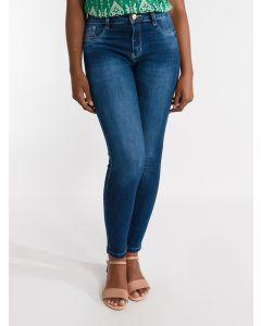 Calça Jeans Feminina Skinny Sawary - Azul