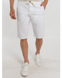 Bermuda Masculina Sarja Cordão - Branco