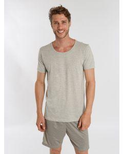 Pijama Masculino Curto Listras - Cinza