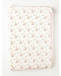Trocador para Bebê 5 cm Floral - Bege e Rosa