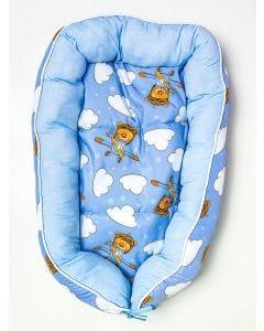 Ninho de Bebê Urso Aviador Miguel Baby - Azul
