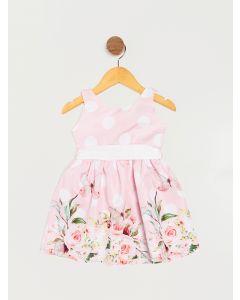 Vestido Infantil Menina Festa Floral - Rosa