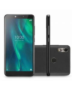 Smartphone Multilaser 3G 32GB Sensor de Digitais Tela 5,5 Câmera Traseira 5MP + Câmera Frontal 5MP - Preto