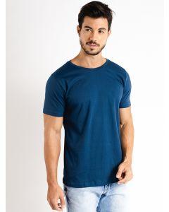 Camiseta Masculina Básica Manga Curta - Azul