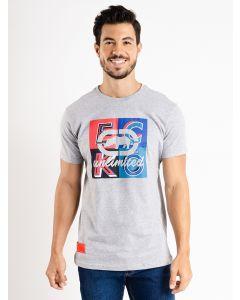 Camiseta Masculina Estampa em Relevo Ecko - Cinza
