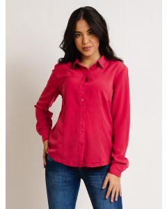 Camisa Feminina Manga Longa Botões - Rosa